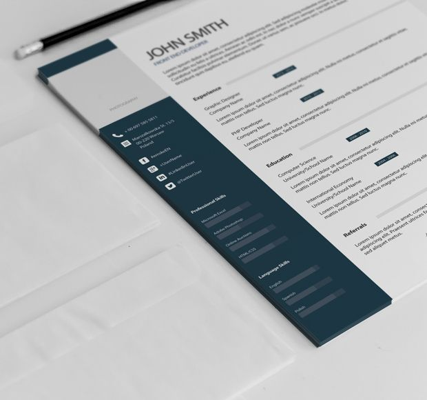 Simple professional resume template example Creative resume - free pdf resume templates