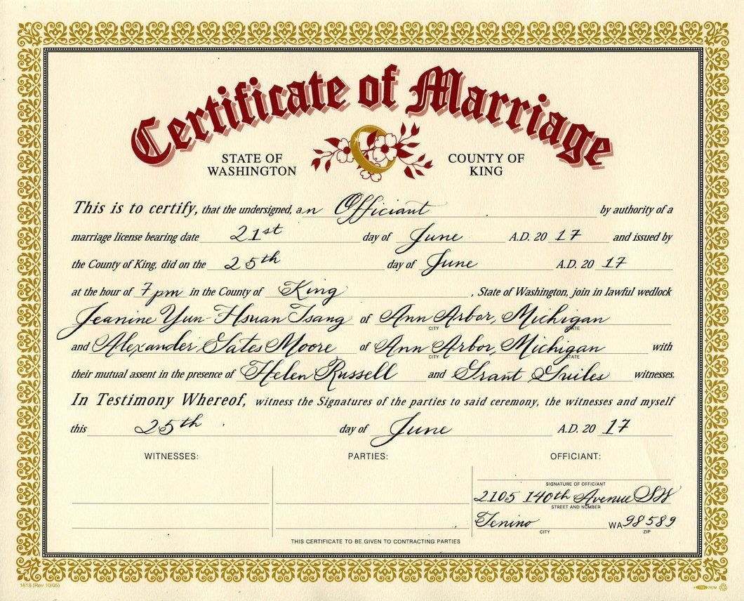 Image Result For Marriage Certificate  ChristinaS Inspiration