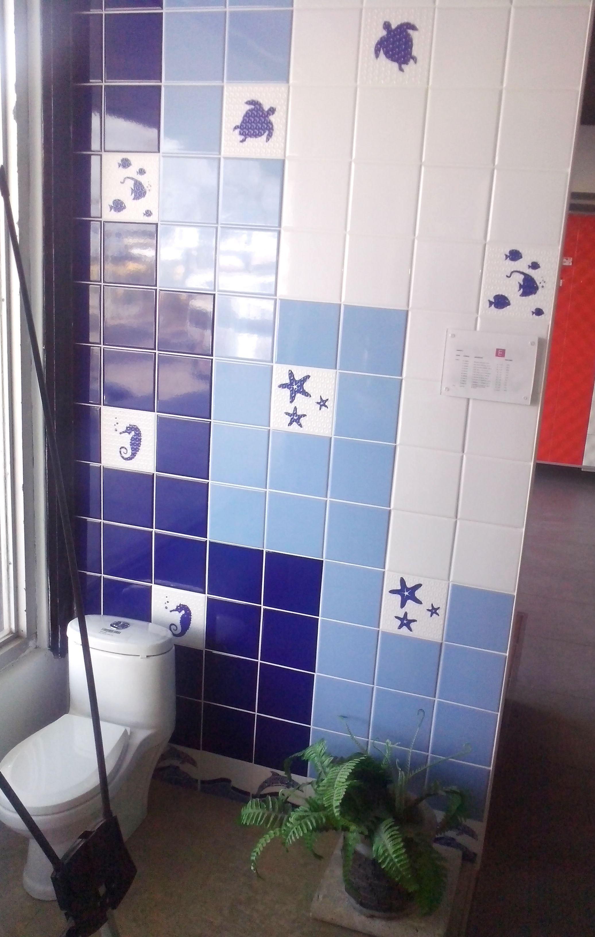 Azulejos de piscina con la sugerencia para colocarlos en - Combinacion de azulejos ...