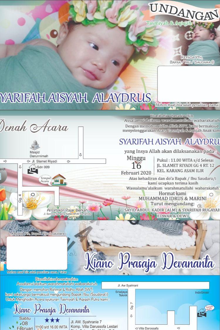 Desain Undangan Tasmiyah Dan Aqiqah - Kartu Undangan