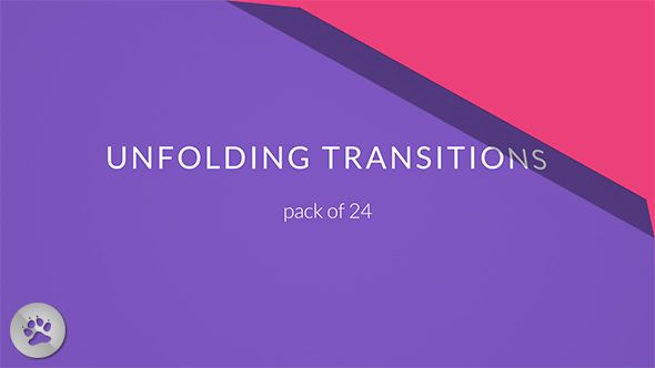 24 Unfolding Transitions Pack (Miscellaneous) #Envato #Videohive ...
