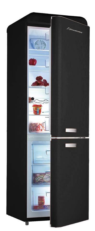 black matt refrigerator of schaub lorenz for that dark. Black Bedroom Furniture Sets. Home Design Ideas