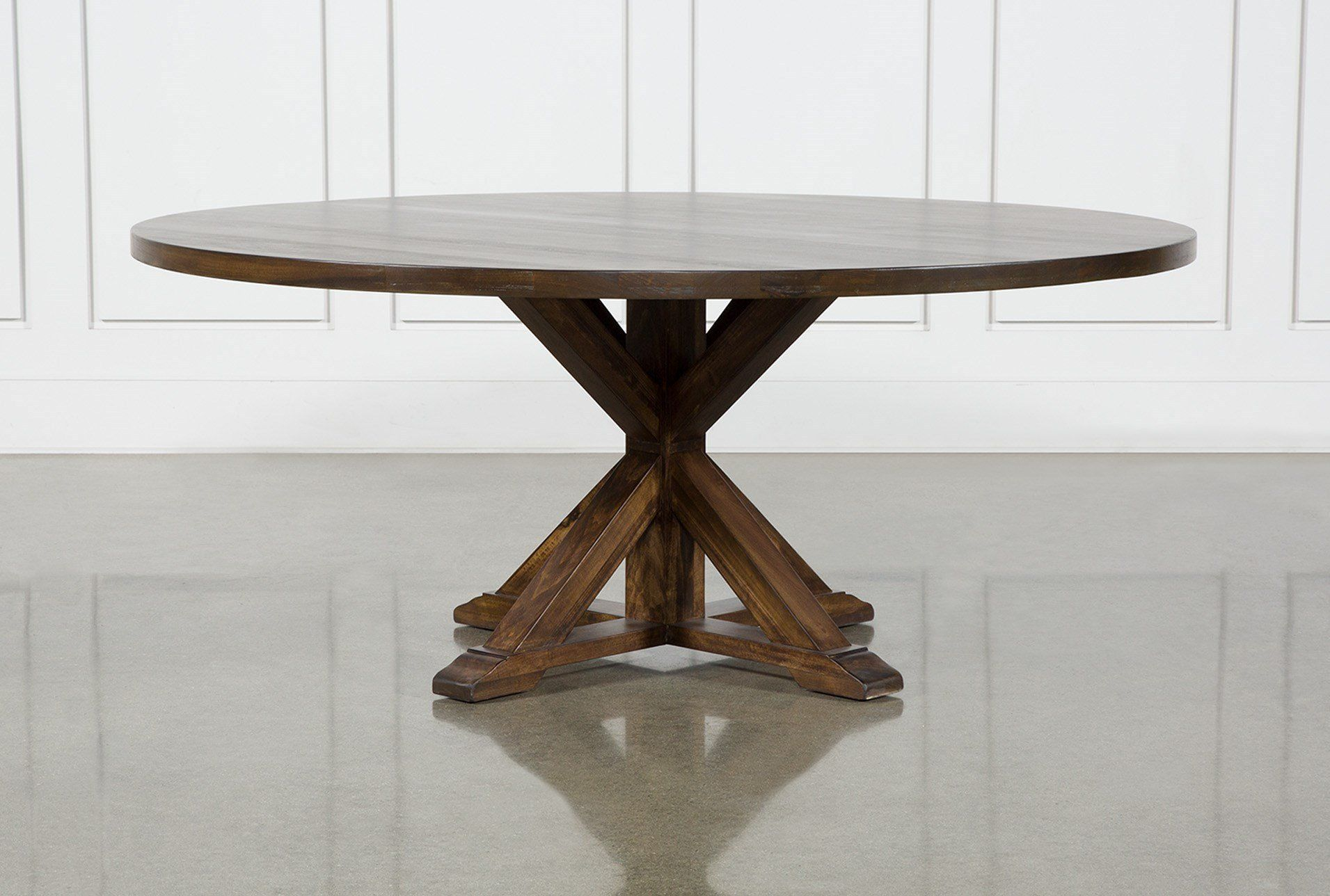 La Phillippe Cognac Round Dining Table Brown 1550 Dining