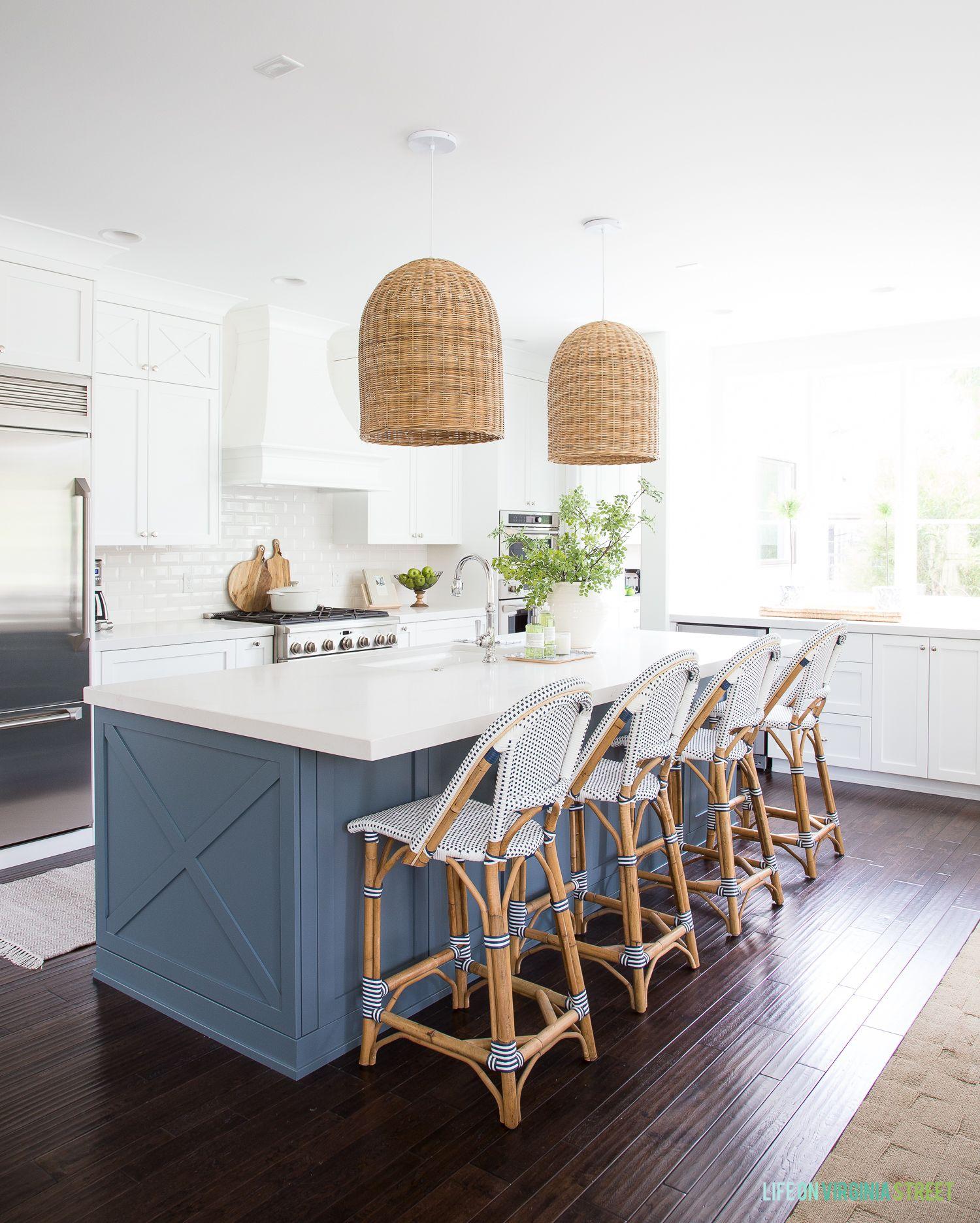 coastal kitchen reveal in the kitchen home decor white home rh pinterest com