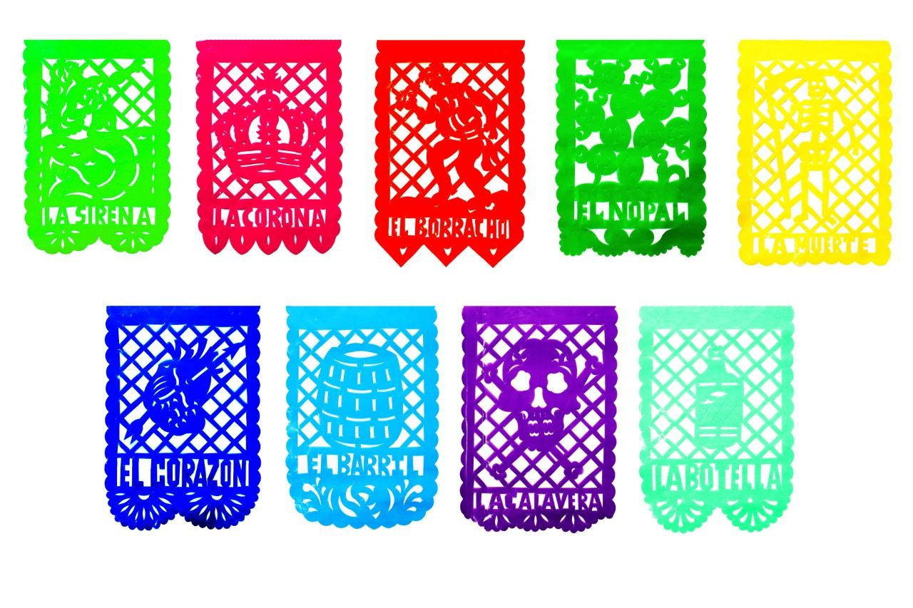 La Loteria Party Banner 2 Pack PLASTIC Garlands (20 Feet
