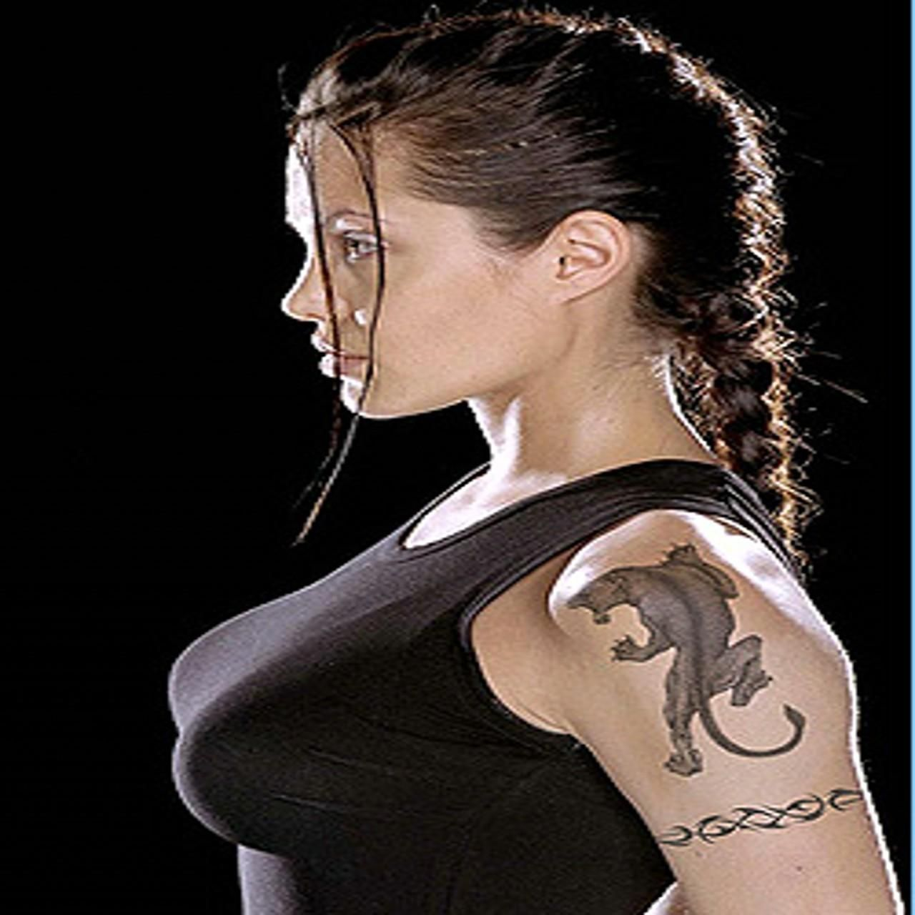 ANGELINA JOLIE PANTHER TATTOO   Tattooed Ladies ...