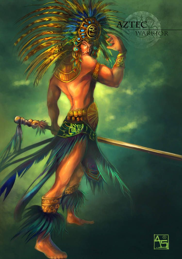 Aztec Warrior By Avasariah Aztecas Aztec Warrior Aztec Aztec Art