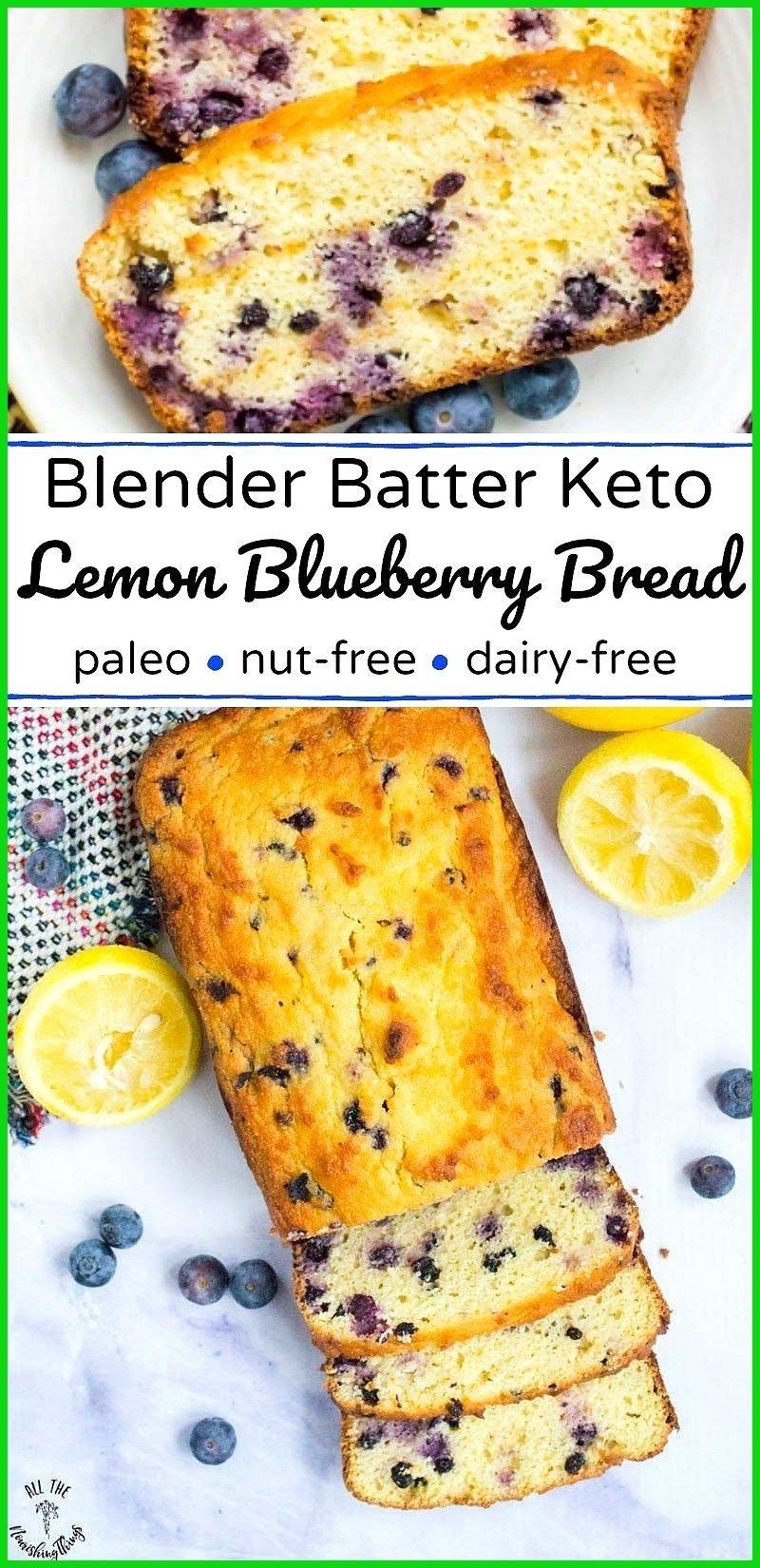 Blender Batter Keto Lemon Blueberry Bread nut-free dairy-free paleo Enjoy this easy Blender Batter