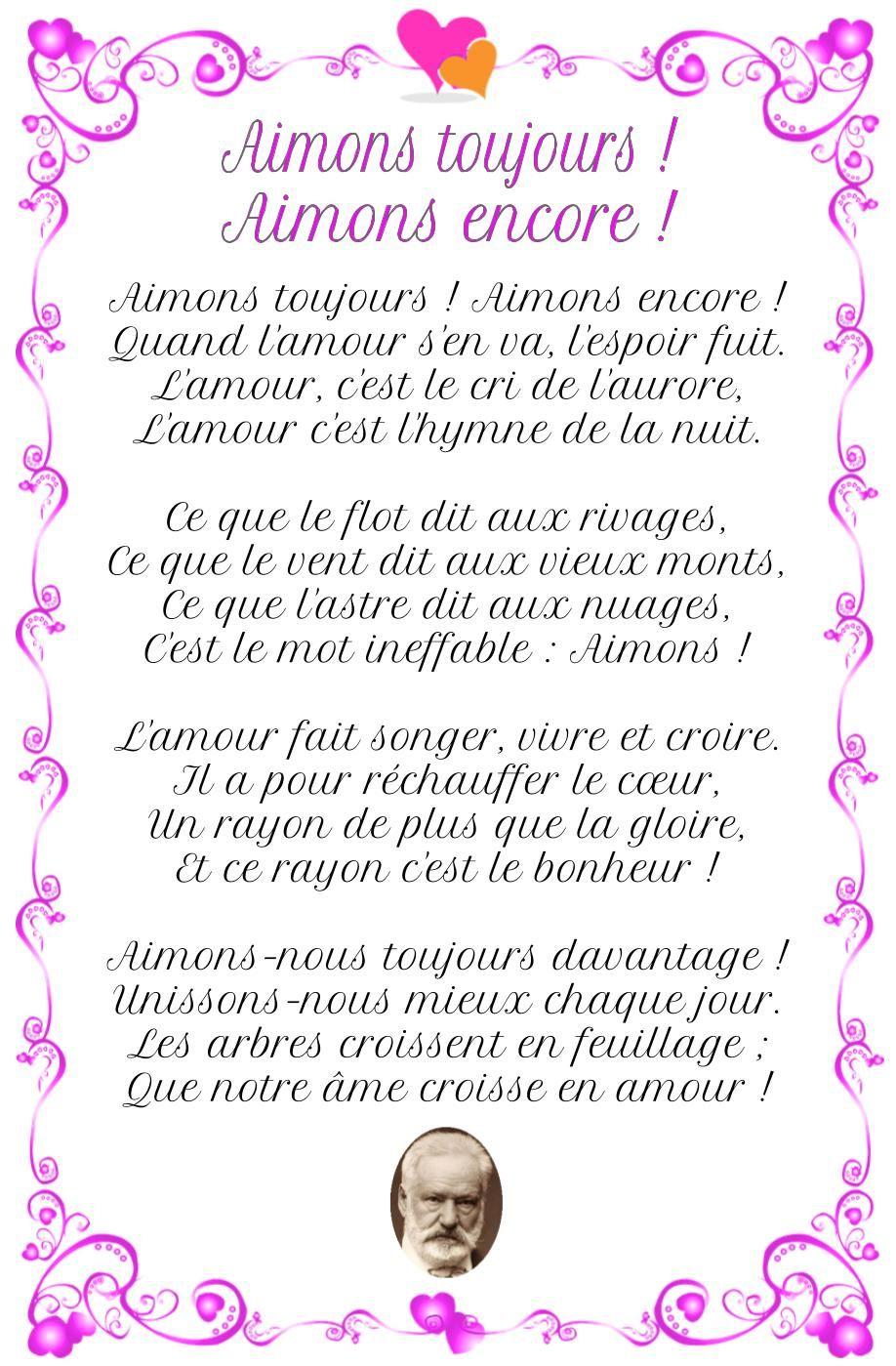 Poesie D Amour Aimons Toujours Aimons Encore Victor Hugo Poesie D Amour Poesie De Victor Hugo Victor Hugo