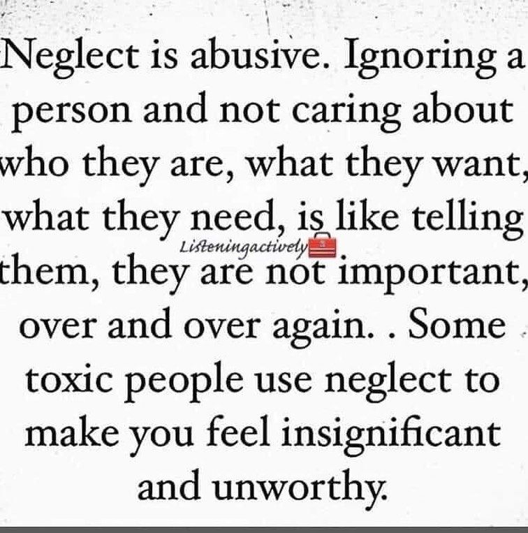 """Jill Wise Life Coach on Instagram: """"Neglect is a powerful devalue tool that all narcissists utilize.  Happy Wednesday everyone! ❤️   If you are struggling with issues…"""""""