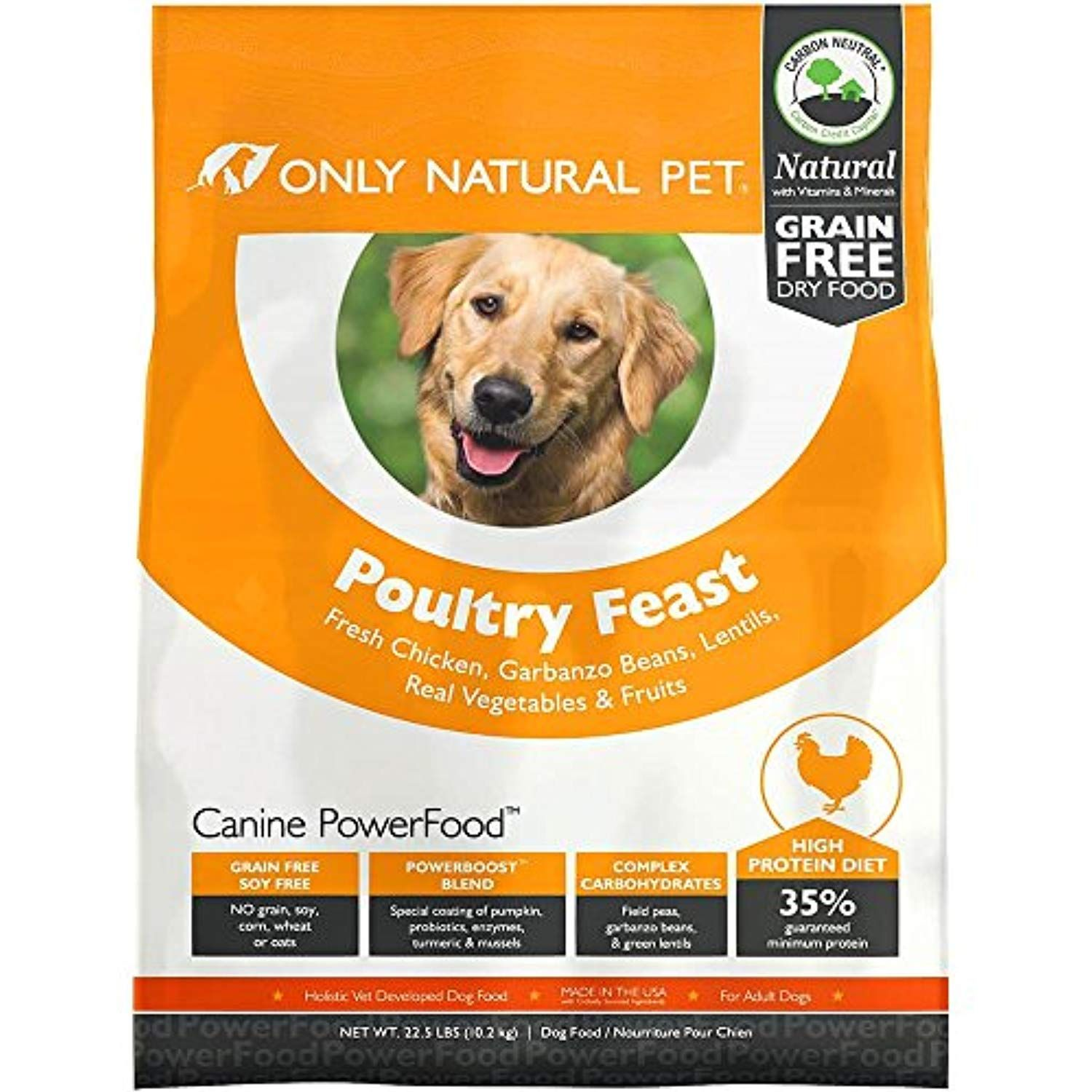 Only Natural Pet Dry Dog Food Canine Powerfood Formula Made In