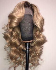 Full Lace Wig Ombre Honey Color Wave Human Hair
