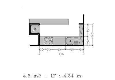 Petite cuisine : tous les plans de petites cuisines jusqu\'à 6 m² ...