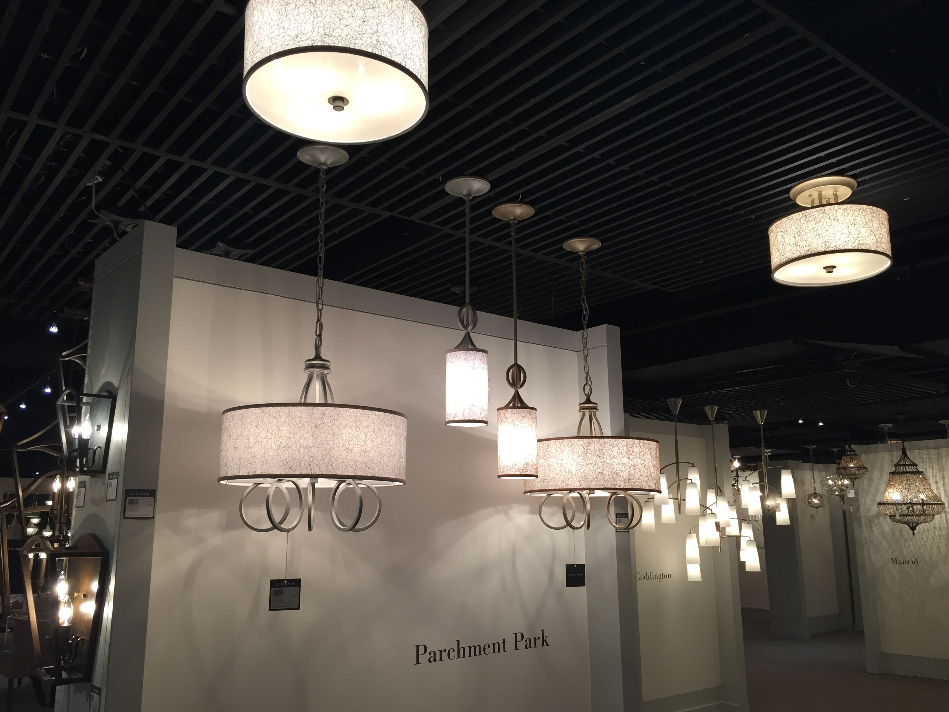 Feiss parchment park collection building off the trend of a feiss parchment park collection building off the trend of a chandelier within a drum shade the parchment park lighting collection by feiss delivers rich arubaitofo Choice Image
