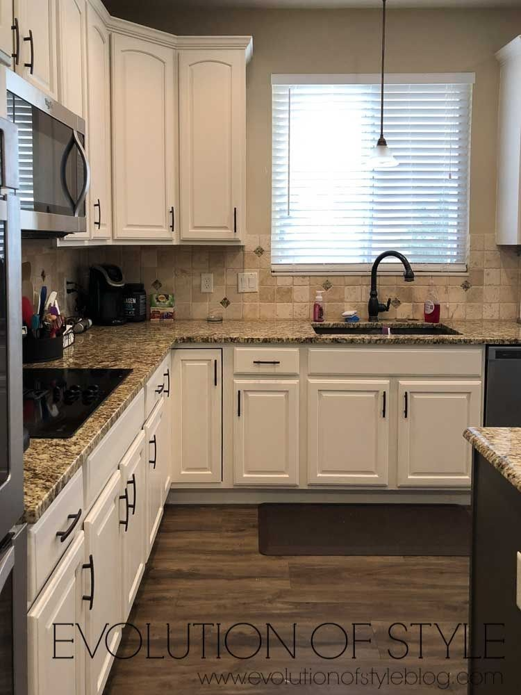 White Dove And Urbane Bronze Painted Cabinets Painting Kitchen Cabinets White Painted Kitchen Cabinets Colors Kitchen Design