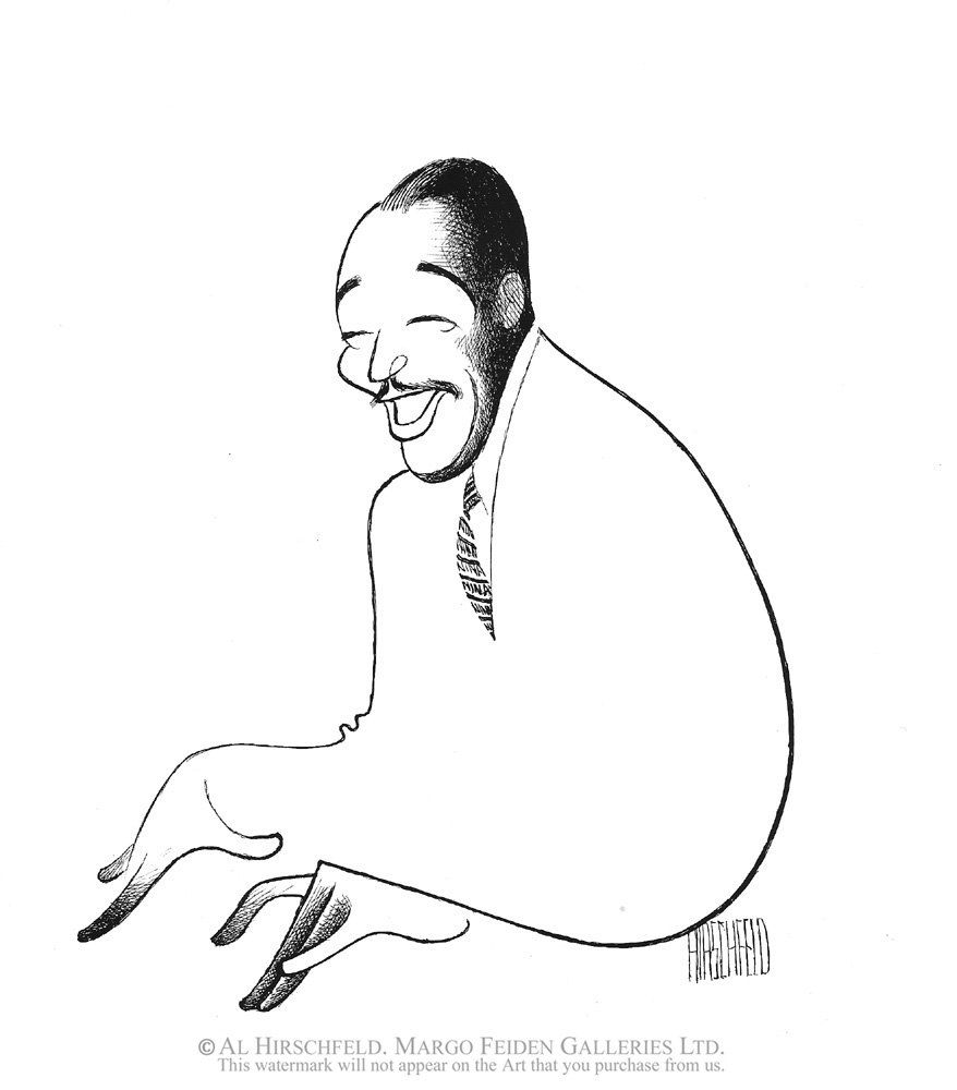 Al Hirschfeld ~ Duke Ellington - courtesy of The Margo Feiden Galleries, Ltd.