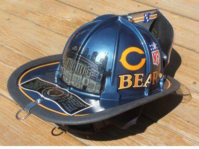 Chicago Bears Fire Helmet Combining Things I Love Bears - Fire helmet decals