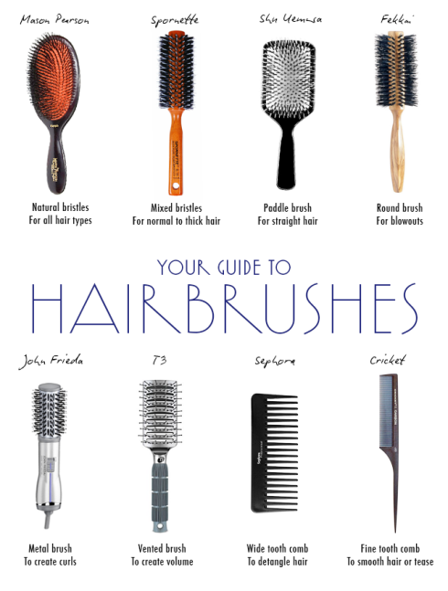 different types of hair brushes and their uses you