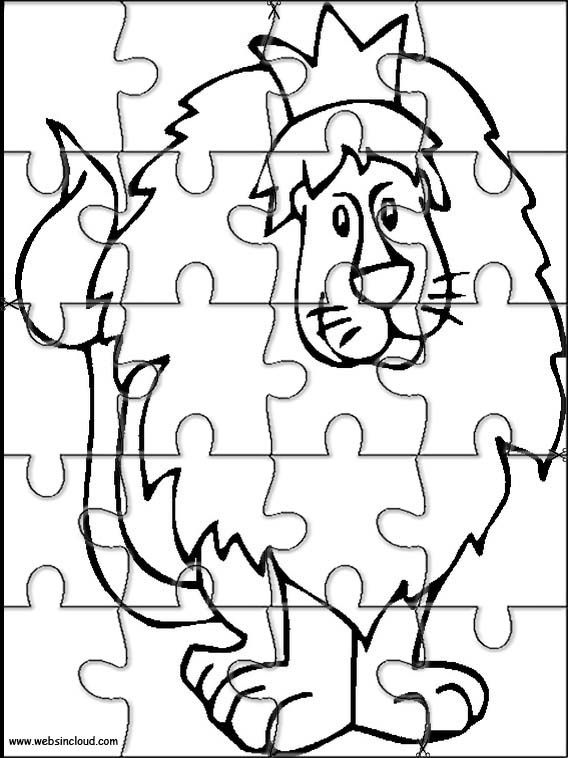 Printable jigsaw puzzles to cut out for kids Animals 234