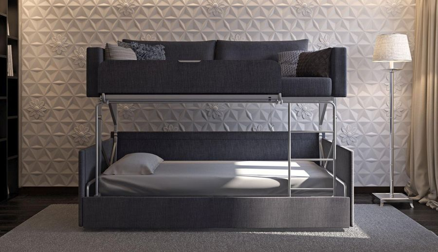Coupe Sofa Turns into Comfy Bunk Bed in Just 14 Seconds