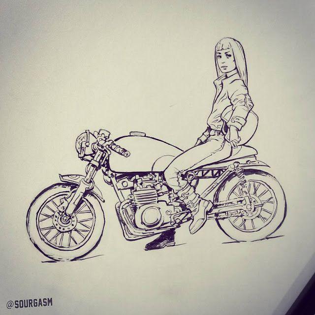 Sourgasm Bike Drawing Bike Art Motorcycle Illustration