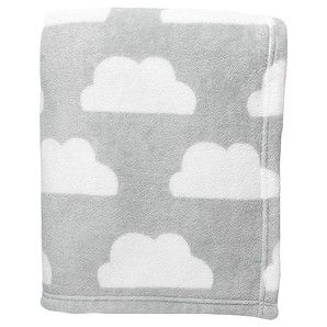 Swaddle Blankets Target Amusing Coral Fleece Cot Blanket Grey Clouds  Target Australia   Little Decorating Design