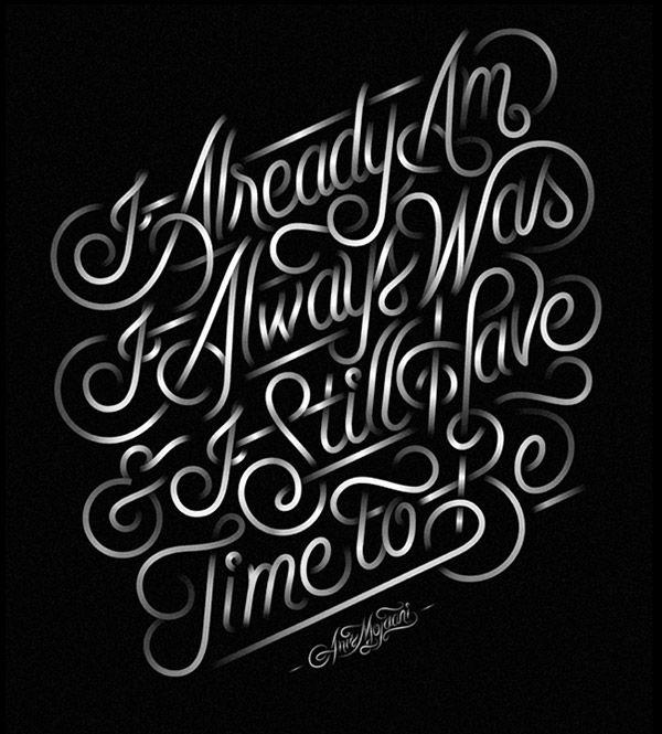 Beautiful Typography Design Work by Jordan Metcalf
