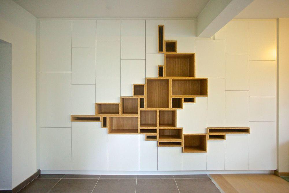 Filip janssens agencement mobilier contemporain design maatwerk welle ideas - Schrankwand ikea ...