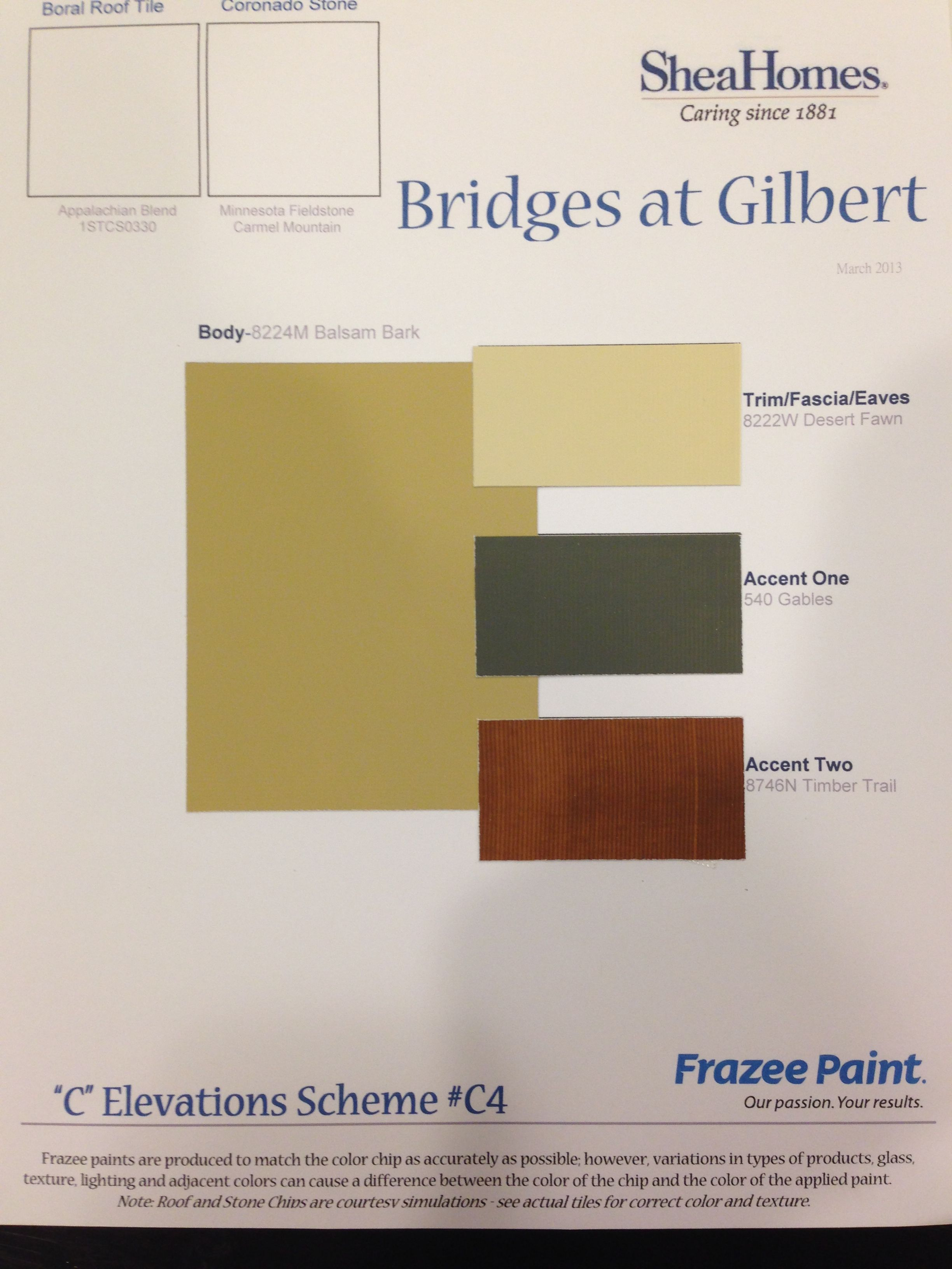 Exterior Paint Colors By Frazee New House Actuals