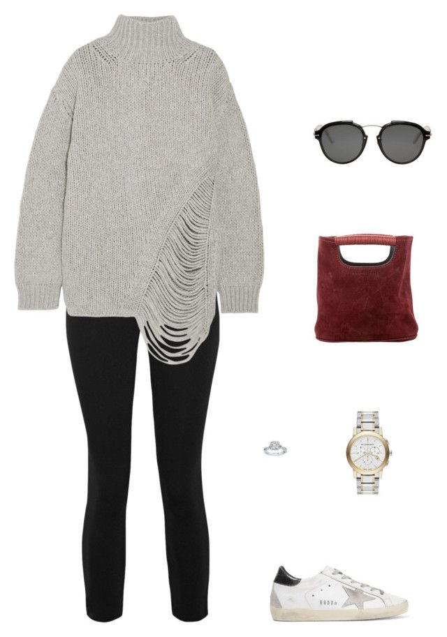 """""""Street Style"""" by julieselmer on Polyvore featuring James Perse, IRO, Simon Miller, Golden Goose, Christian Dior and Burberry"""