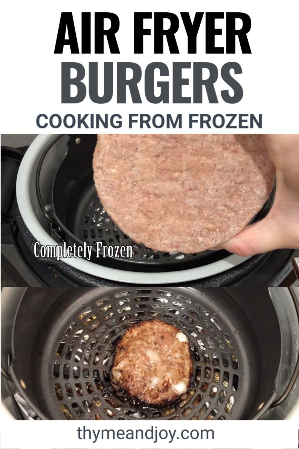 Air Fryer Burgers Recipe in 2020 Recipes, Real food