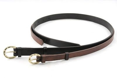 Two belts made for riders and equestrian pants' tight loops