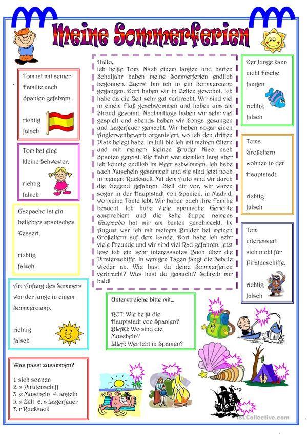 Sommerferien-LV | Deutsch, Lernen und Schule