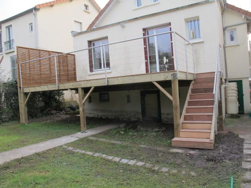Terrasse en bois sur pilotis Plevenon Pinterest
