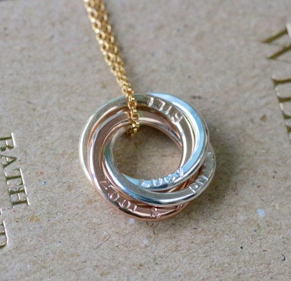 Rose gold mom jewelry for her names necklace by ILoveHoneyWillow