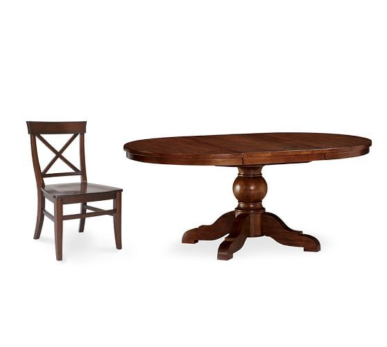 Sumner Extending Pedestal Table & Aaron Chair 5-Piece Dining Set ...