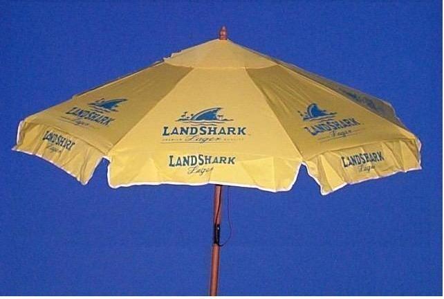 Landshark 7 Beer Umbrella Market Patio Style Huge Euc Ebay