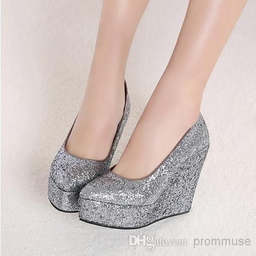 2016 newest wedding shoes gold silver wedges sequins party prom shoes em00545 the bridal shop vintage style wedding shoes from prommuse 5363 dhgatecom