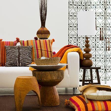 Ambiente étnico com tons terrosos Africa Pinterest Apartments