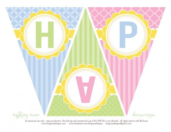 photograph about Happy Easter Banner Printable named Totally free \