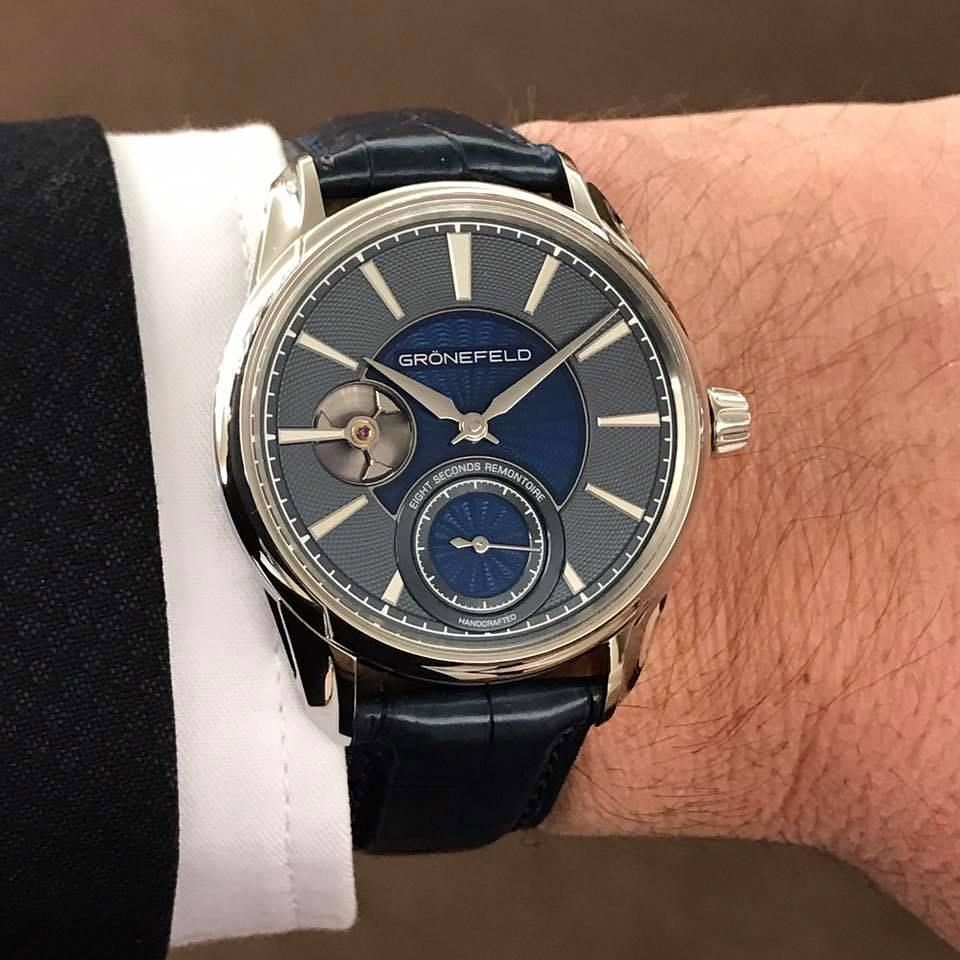 Gronefeld Bespoke 1941 Remontoire On The Wrist And On Www Watchilove Com Photo Courtesy Of Gronefeld Watches Gronefeld Gronefeld 1941remontoire Remontoir En 2020