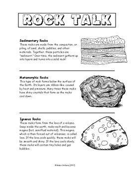 rock talk teachers pay teachers rock igneous rock 1st grade science. Black Bedroom Furniture Sets. Home Design Ideas