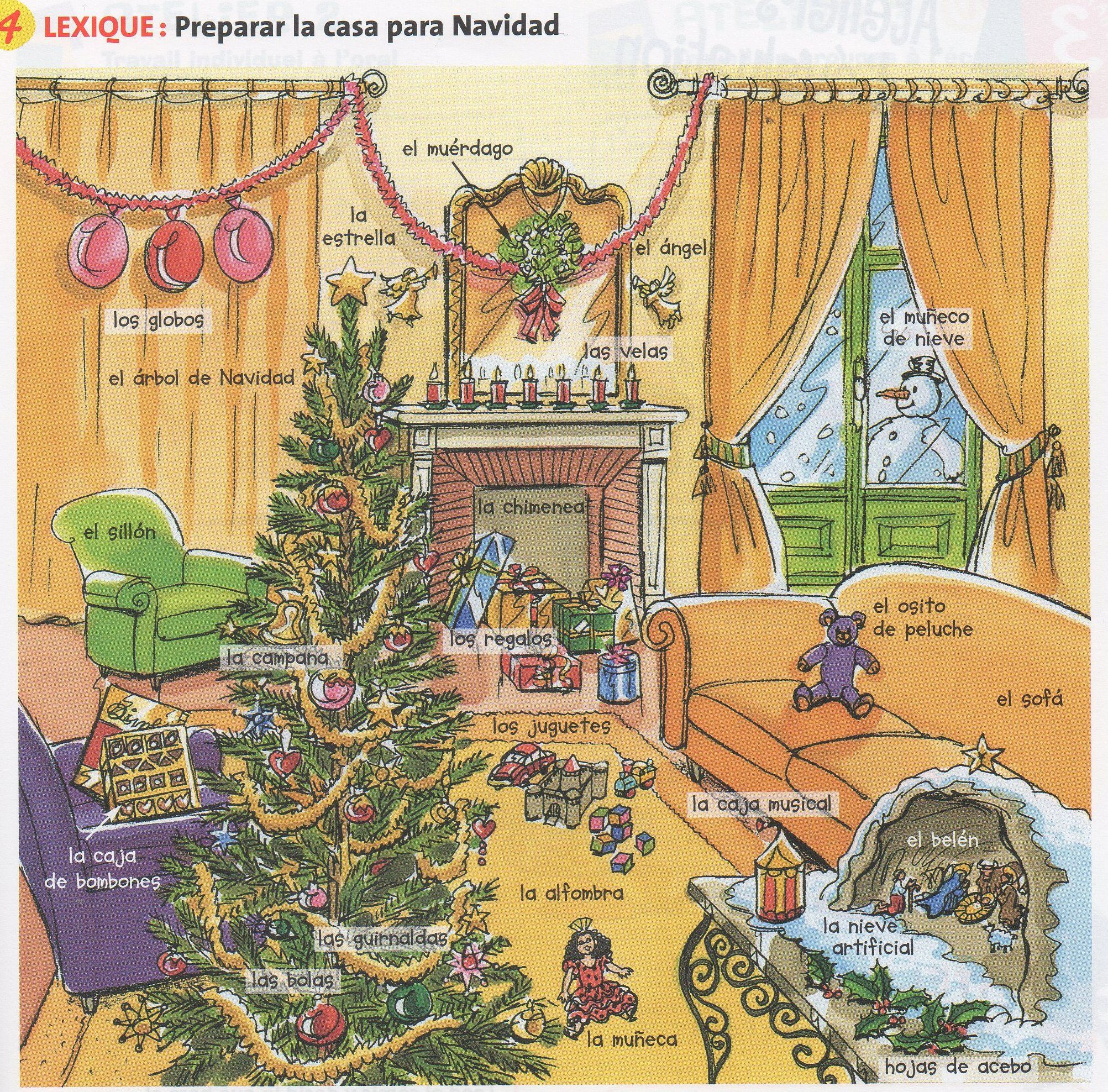 vocabulario de navidad espa ol pinterest spanisch. Black Bedroom Furniture Sets. Home Design Ideas