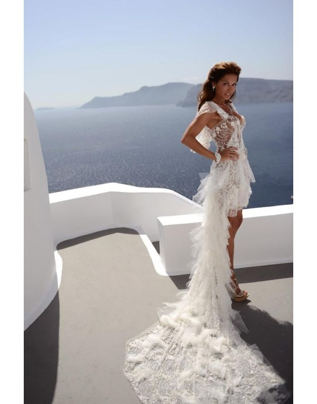 Wedding Dress Made Out Of Yves Saint Lau Lace