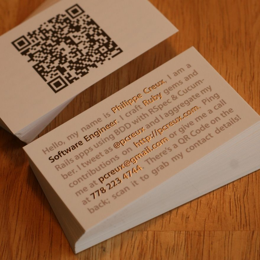 Philippe Creux Business Card - Business Cards - Creattica ...