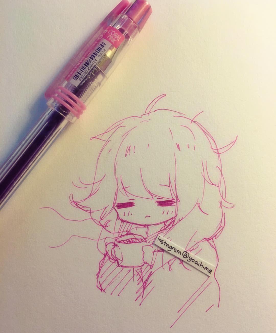 Scribble Drawing Instagram : Regardez cette photo instagram de yoaihime k
