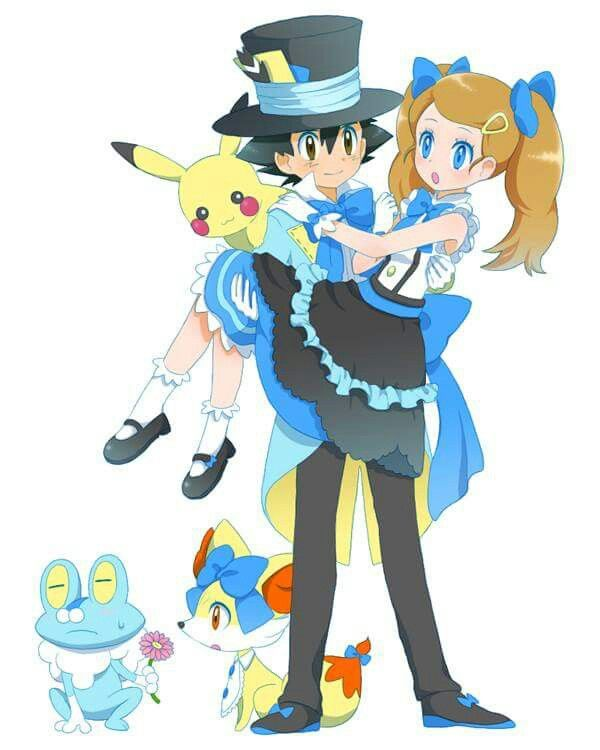 Beautiful Amourshipping I Give Good Credit To Whoever Made This Pokemon Ash And Serena Pokemon Characters Pokemon
