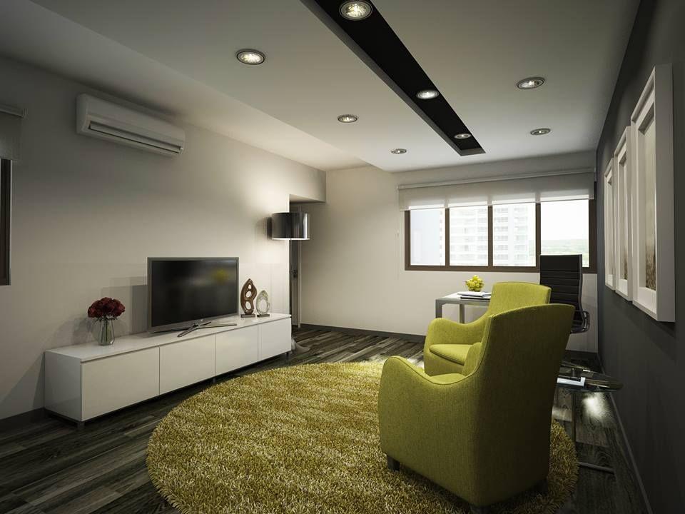 HDB 4 Room Clean Black White Design