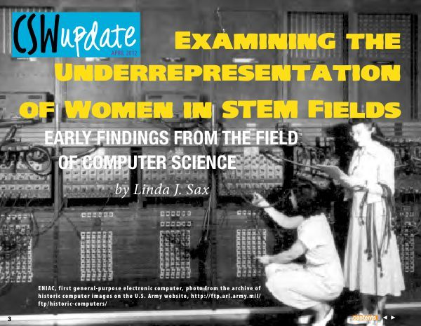 Linda Sax on women in STEM (mostly CS)