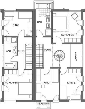 Grundriss Dachgeschoss - \